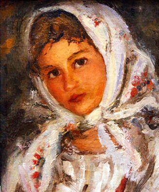 Честняков Ефим Васильевич (1874-1961). Портрет девушки.
