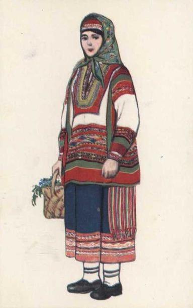 Женский костюм Пензенской губернии