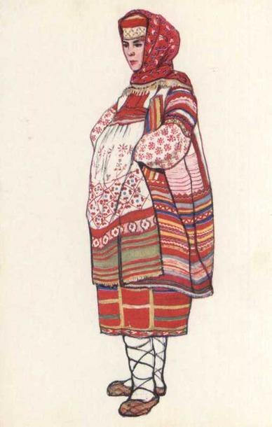 Женский костюм Рязанской губернии