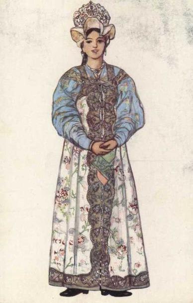 Праздничный женский костюм Новгородской губернии